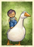 Stinky and the Goose by DerekTall