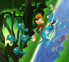 Rayman 3: Ascending the Waterfall by PattiethePentist