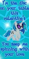 DJ Pon3 Valentine Card by Kurenai-Hio