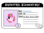 Enrollment I.D. For Equestria Elementary by Burstalicious