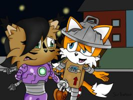 Contest Entry: Tails and Nicole Halloween by SirBurnout