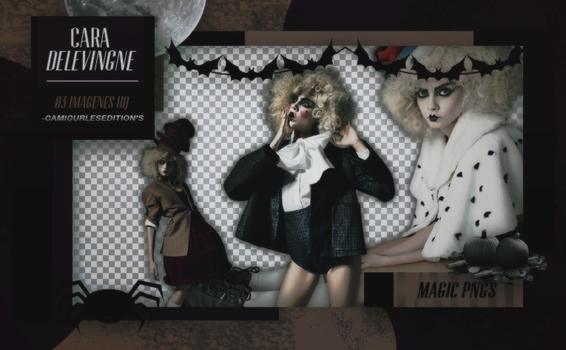 PACK PNG 260|CARA DELEVINGNE by MAGIC-PNGS