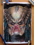 Predator Color Pencil Drawing by AtomiccircuS