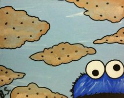 Cookie Monster in Cookie Clouds by sampson1721