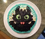 Toothless Birthday Cake by PokemonMasta