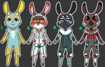 Rabbit Adoptables [open] by QuinceyFlick
