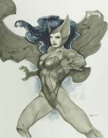 Scarlet Witch Con Sketch 2010 by RichardCox