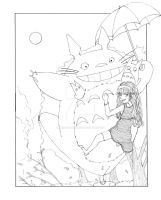 Me and My Neighbor Totoro - Line Art by ChiisaiKabocha17
