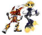 Comm Robo Stryke and Lindsey by BatzyDRae