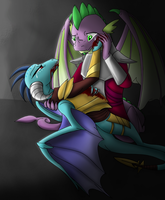 [Commission] Spike and Ember by StupidFlyingXXFOX