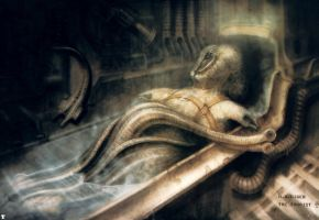 H. R. Giger XIV by CamillOnline