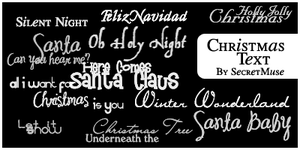 Christmas Text Brushes by musicofnight