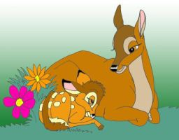 Bambi and his mother by danidarko96