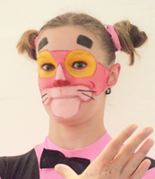 Pink panther makeup by Angi-Shy