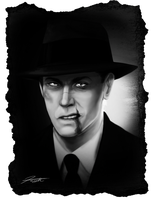 Noir Portrait: Lefty by DJCoulz