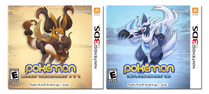 Pokemon SANDSTORM / Pokemon BLIZZARD boxart by BrasioPkmn