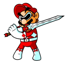Commission - Power Ranger Mario by JamesmanTheRegenold