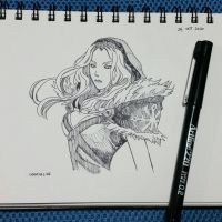 inktober day24 - CrystalMaiden (DoTA2) by ixamxelise