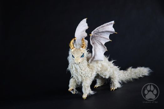 SOLD Aurum the Golden Dragon poseable art doll. by CreaturesofNat