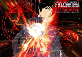 FMA: Roy Mustang Wallpaper by Balrond