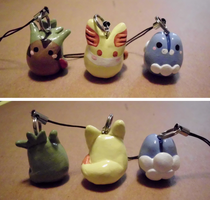 Poke-Peeps Cellphone Charm - X and Y Starter Set 1 by UniqueTreats