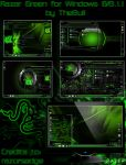 Razer Green Winows 8/8.1.1 theme by poweredbyostx