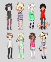 More adoptables holy frick frack CLOSED by PlaguePuppet