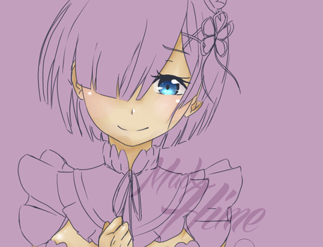 Rem - Re:Zero ( WIP ) by MadxHime