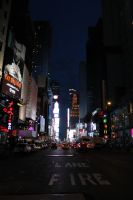 Times Square at Night by habituals