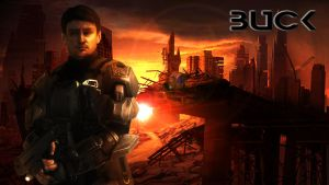 ODST Buck - Desktop Background by Winter-218