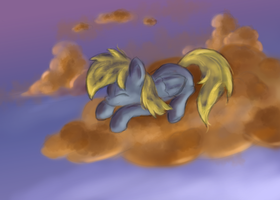 Napping Derpy by Ardail