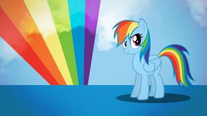 Rainbow Dash Over the Rainbow wallpaper minimalist by Nidrax