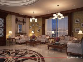 Luxury Apartment Common Room by Fdjohan19