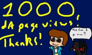 1000 page view Thank you! by AuthorNumber2