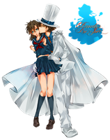 Kaito x Aoko Render by JunSoulsilver