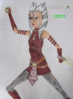 Ahsoka Tano_Epic Pose_Colored by Ahsoka114