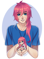 Pink Haired Cuties by Zethya