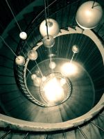 Budapest spiral with lights by siby