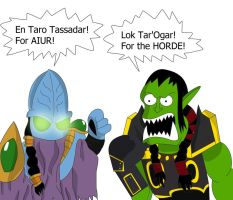 Warcry of Horde and Protoss by alienhominid2000