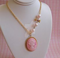 Asymmetrical Cameo Necklace by FatallyFeminine