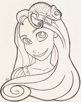 Tangled coloring page by Kirei-Kaze