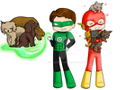 Lego Justice League - Cats and Dogs by BIazeRod