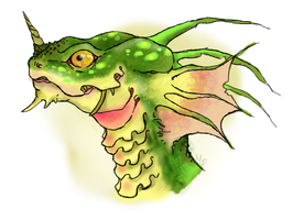 Tropical Argonian by MechanicPigeon