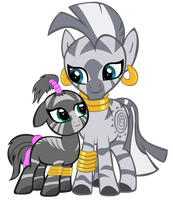 Zecora and Aina by BonesWolbach