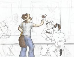 Lunch Room Tango WIP3 by selunca