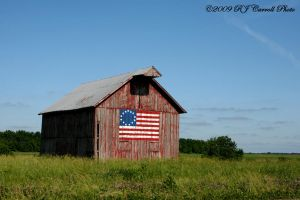 Patriotic Barn by rjcarroll