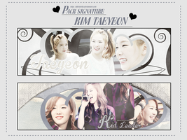PACK SIGNATURE TAEYEON by ddhSheila