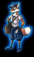 Magical Mail Fox by crewwolf