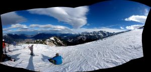 Skiing Panorama - Garmisch by RebelAssasin311