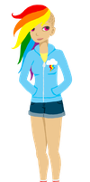 human!Rainbow Dash by unearthlychild